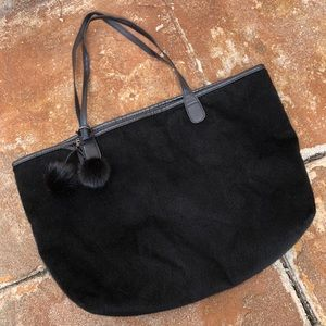 Vegan Black Fur Tote Bag!